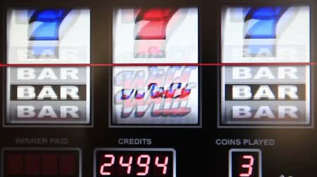 unlucky : slot machine series, wining double bar Stock Footage