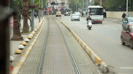 antalya : Antalya city  traffic and tram