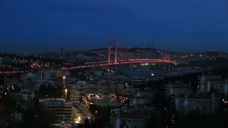 ночная жизнь : night at Bosporus Bridge istanbul Turkey,