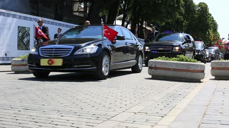 secret service : security cars and president of the republic of turkey