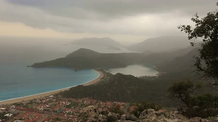 aegean sea : famous national park blue lagoon and beach at dead sea (oludeniz) Fethiye Turkey