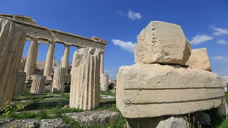 greek culture : Ancient Acropolis in Athens Greece