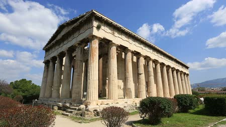 bohyně : Time Lapse Temple of Hephaestus ancient Greek in Athens Greece