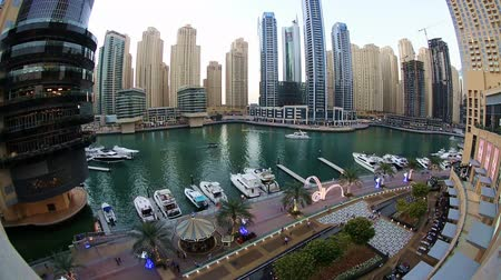 эмираты : Futuristic Dubai at United Arab Emirates UAE Стоковые видеозаписи