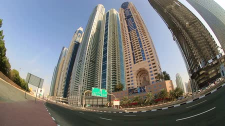 birleşik arap emirlikleri : time lapse city traffic with skyscraper in Dubai United Arab Emirates UAE
