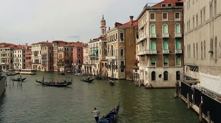 veneza : Gondola Trip on the Grand Canal Canale Grande at Venice Venezia Veneto Italy