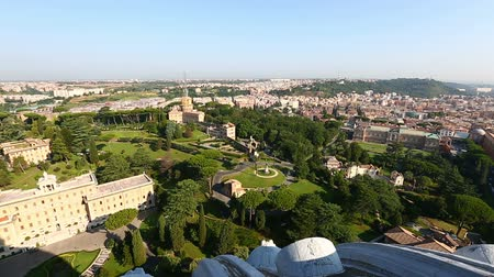 watykan : Aerial Skyline Garden of Vatican City