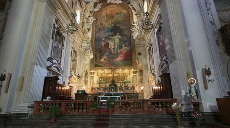 sycylia : Zoom in Chiesa Santa Ninfa ai Crociferi, Church Santa Ninfa Crociferi at Palermo Sicily Italy Wideo