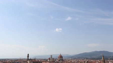 piazza del duomo : Tilt Shot Aerial Skyline of Florence at Tuscany Italy