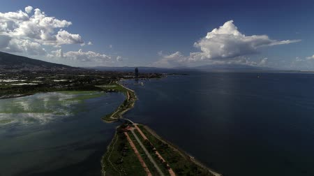 Aerial view of lagoon in Izmir, Turkey