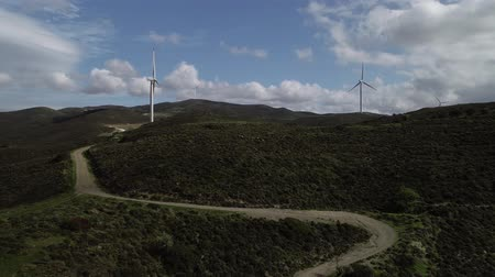устойчивость : Aerial view of Wind turbines.