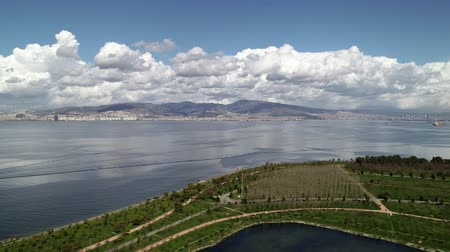 herder : Aerial view of lagoon in Izmir, Turkey