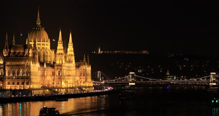 A view of the Hungarian Parliament building