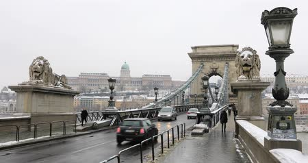 easterner : A view of Chain Bridge in Budapest