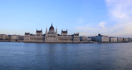 easterner : Old Hungarian Parliament building in winter time