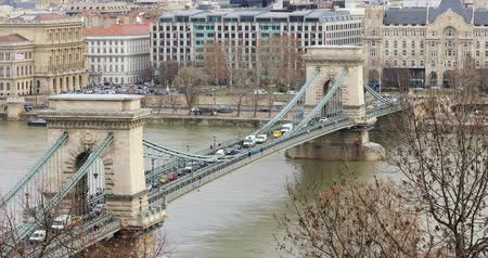 budapeste : Aerial view of buildings, Danube river.