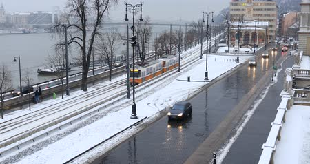 railwayman : Winter view at Budapest