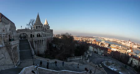 relics : A lot of peole visits Winter time in Budapest. Time lapse.
