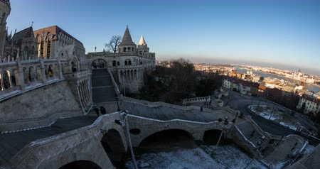 arcada : A lot of peole visits Winter time in Budapest. Time lapse.