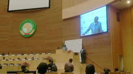 Addis Ababa 2 February 2015 The newly elected Chair of the African Union AU President Robert Mugabe  visited the AU headquarters and delivers a speech in Addis Ababa Ethiopia