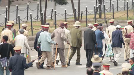 Addis Ababa  May 5: Arbegnoch Patriots and old war veterans attend the 74th anniversary of Patriots Victory day commemorating the defeat of the invading Italians on May 5 2015 in Addis Ababa Ethiopia.