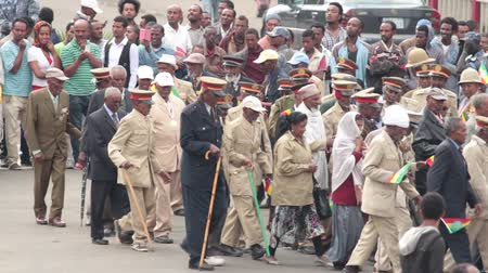 demokratický : Addis Ababa - May 5: Arbegnoch, Patriots and old war veterans attend the 74th anniversary of Patriots Victory day commemorating the defeat of the invading Italians on May 5, 2015 in Addis Ababa, Ethiopia.