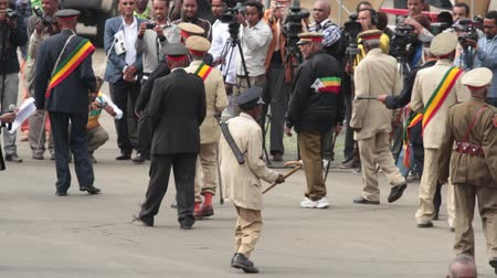 Addis Ababa - May 5: Arbegnoch, Patriots and old war veterans attend the 74th anniversary of Patriots Victory day commemorating the defeat of the invading Italians on May 5, 2015 in Addis Ababa, Ethiopia.