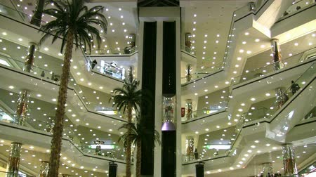 лифт : Shopping Center Стоковые видеозаписи