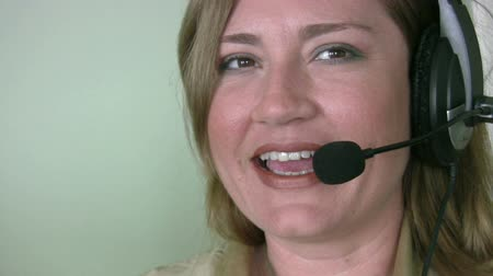 temsilci : Call-center representative Stok Video