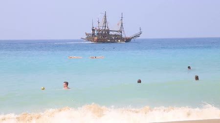 tripping : Summer holiday scenics 20 August 2014 ( Cleopatra beach Alanya Antalya Turkey) Stock Footage