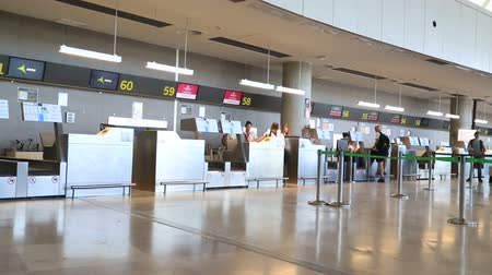 geçti : Valencia  Airport Inside view Valencia Spain 10 August 2017 Stok Video