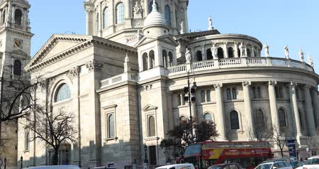 saint stephen : BUDAPEST, HUNGARY - JANUARY 15, 2019 : St. Stefan basilica exterior view