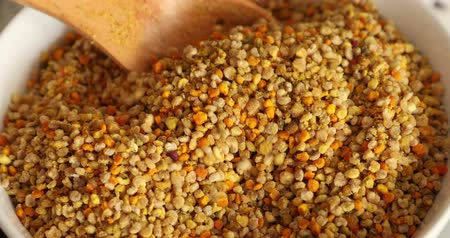 nutritional supplement : Bowl full of bee pollen