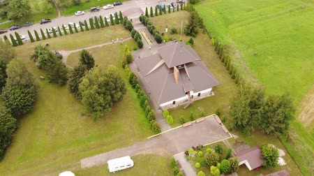 поэт : Aerial view of Ivan Franko Museum, Nahuievychi village, Ukraine. Ivan Franko was a prominent Ukrainian poet. Fly around technique