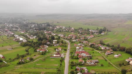 drohobych : Aerial view of Nahuievychi village, place where was born and lived prominent Ukrainian poet Ivan Franko, tour tourism, Ukraine