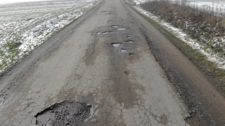 onarılmış : Destroyed road, difficult traffic area, threat of traffic accident