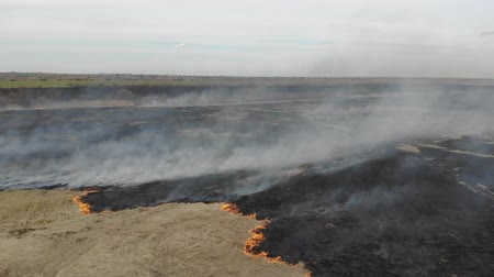 вред : Burning field, fire and smoke. Disaster and emergency events, negative impact on flora