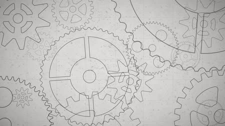 mecânica : rotating gears Stock Footage