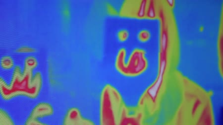 thermography : people silhouette imager