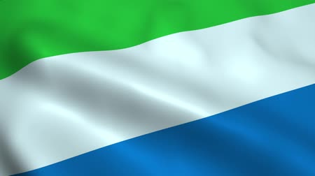 freetown : Realistic Sierra Leone flag