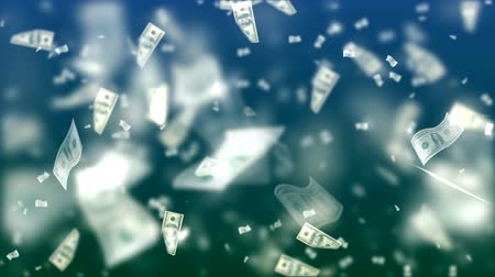 banknoty : Flying Dollars. Abstract Loopable Background Wideo