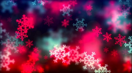 janeiro : Abstract Loopable Background with nice falling snowflakes Vídeos