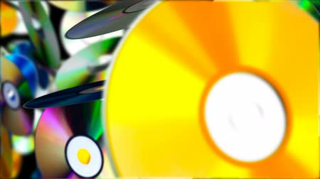 compact disc : Falling Compact Discs. Abstract Loopable Background Stock Footage