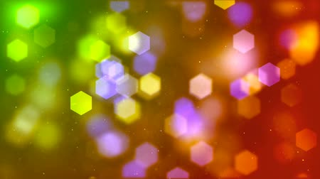 фокус : Abstract background of blurry hexagonal bokeh