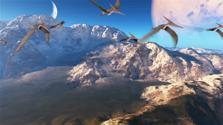 pterodactylus : Beautiful Prehistoric Planet, Abstract Background