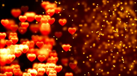 feleségül : Valentines day background, flying abstract hearts and particles