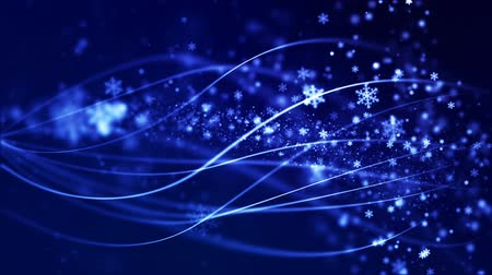 janeiro : Christmas loopable background with nice falling snowflakes Vídeos