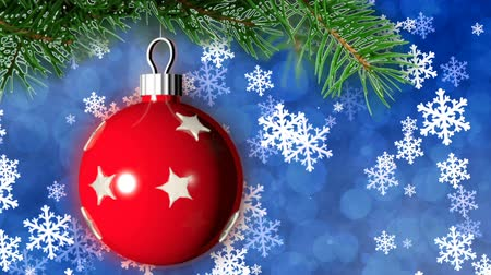 boŻe narodzenie : Christmas loopable background with nice ball Wideo