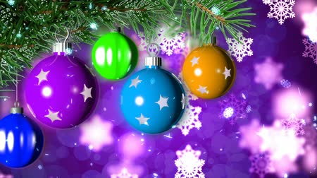 боке : Christmas loopable background with nice balls