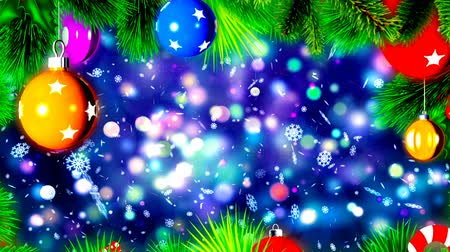 ailelerin : Christmas Balls on Christmas Tree, Abstract Loopable Background Stok Video
